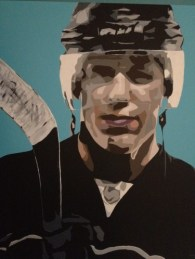 A painting of Evgeni Malkin by David Horvath.