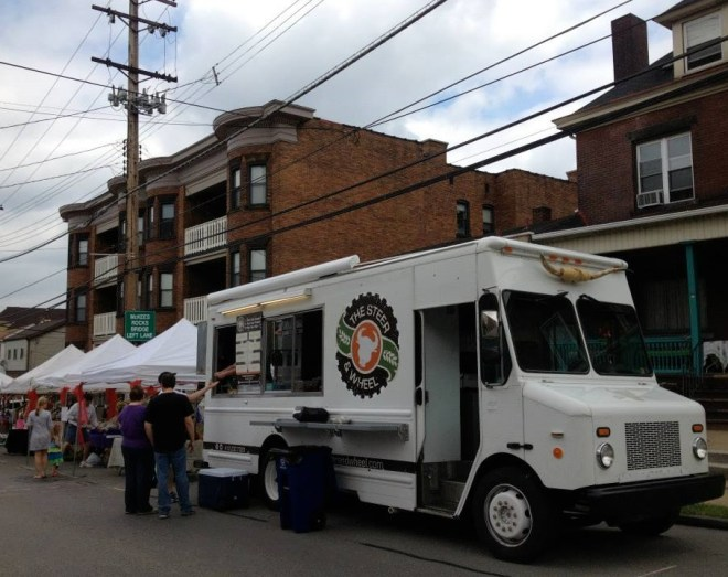 The Steer and Wheel was on site with gourmet burgers.