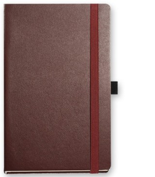 Image showing leather custom notebooks Nappa in brown colour by The Notebook Warehouse
