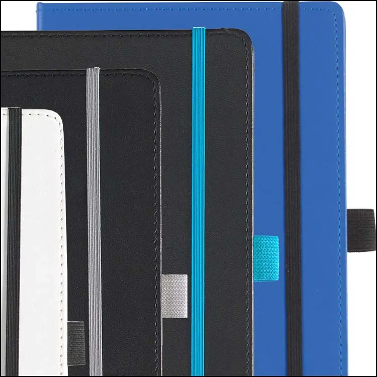 Image to Show Contrast Details on Dartford Recycled Branded Notebooks