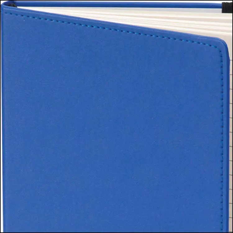 Image to Show Stitch Details on Dartford Recycled Branded Notebooks