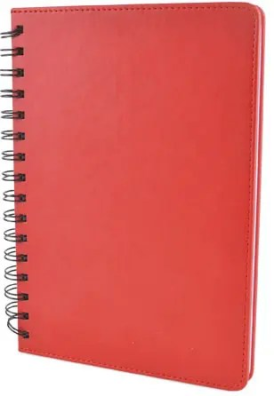 Product Image of Salerno Wiro Custom Notebooks with a Red Soft Touch PU cover from The Notebook Warehouse, the premier site of Company Branded Notebooks