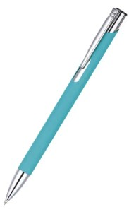 Image showing Cyan Coloured Pen from the Mole Mate Promotional Notebooks & Pens range from The Notebook Warehouse