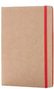 Image showing Red Colourway of Contrast Edge Branded Eco Friendly Notebooks range from The Notebook Warehouse