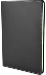 Image of Stitch Edge Flexible Branded Notebooks with Black Cover, from The Notebook Warehouse