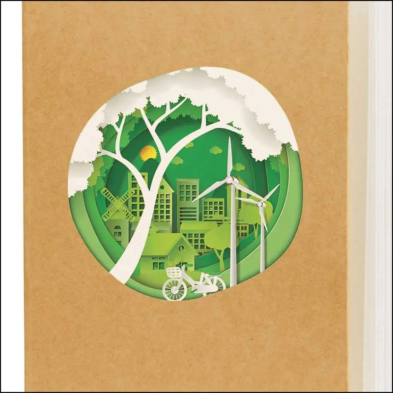 Image showing Digital Print on Broadstairs Eco Friendly Branded Notebooks