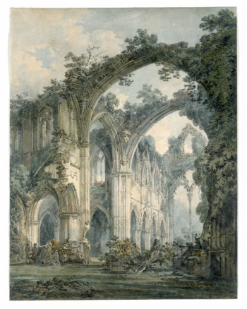 I couldn't find any good representations of the twilight rectory, but Tintern Abbey comes fairly close to the physical embodiment of infinity.