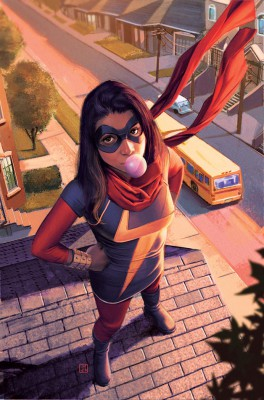 Kamala Khan (Ms. Marvel) gives us a great superhero series for teens. I can see Eric chilling with her. Embiggen!