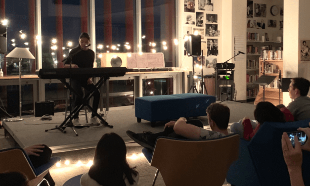 Coffeehouse celebrates art and music