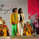 Fashion show finale graced by the designers, Tengku Marina and Dr Ngo.