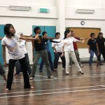 Rehearsals for the dance portion of the flash mob were held three weeks earlier, with this group practising their moves in Kiwanis Club Petaling Jaya. Participants took the rehearsals seriously, coming in on Tuesday and Thursdays.