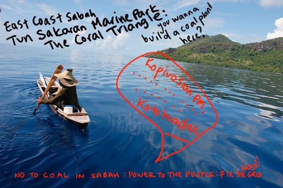 Postcard sent to the prime minister (© Sabah Says No to Coal! Postcard Project)