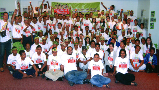 With 100 other Orang Asli representatives attending a convention in Kuala Lumpur in December 2010