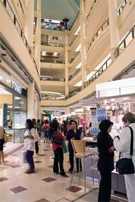 Shoppers at Suria KLCC
