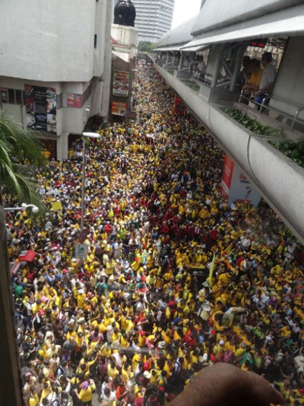 A section of the massive crowd at Bersih 3.0. (Pic courtesy Aliran)