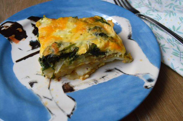 Potato Crust Spinach Quiche