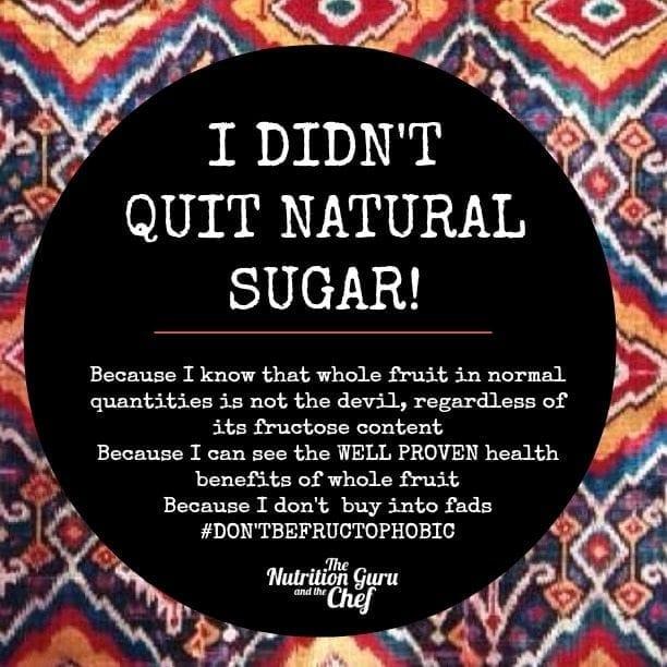 I didn't quit sugar