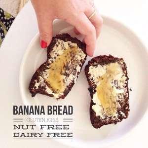 Banana Bread {Gluten Free Dairy Free Nut Free}