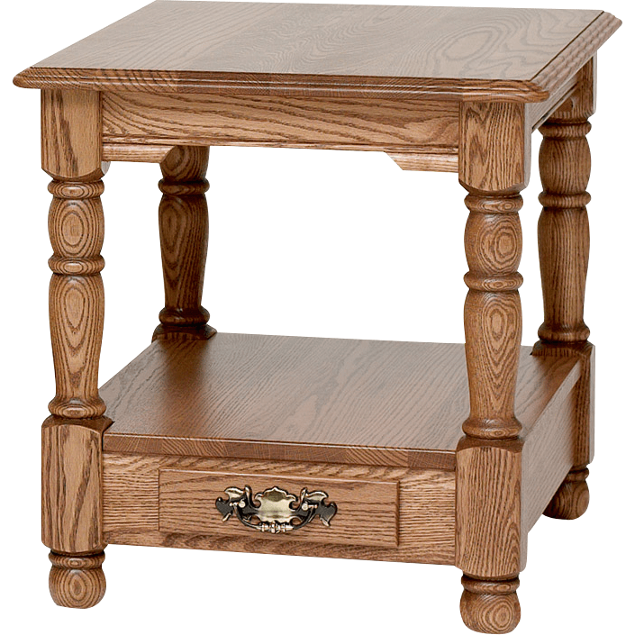 country trend solid oak end table with drawer 21 x 25