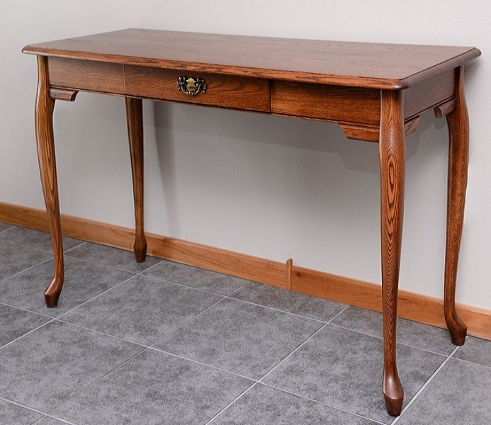 Queen Anne Solid Oak Home Office Computer Desk  55  The