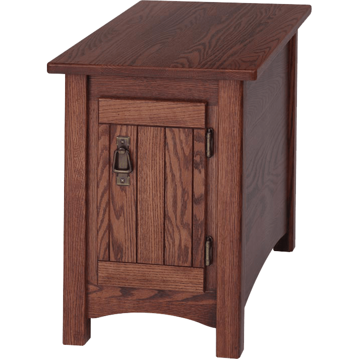 Solid Oak Mission Style Chair Side Table 15 X 27 The