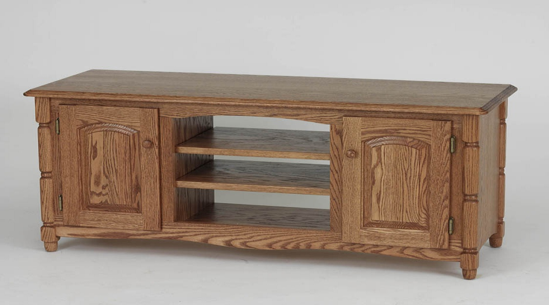 Solid Oak Country Style TV Stand wCabinet  60  The Oak