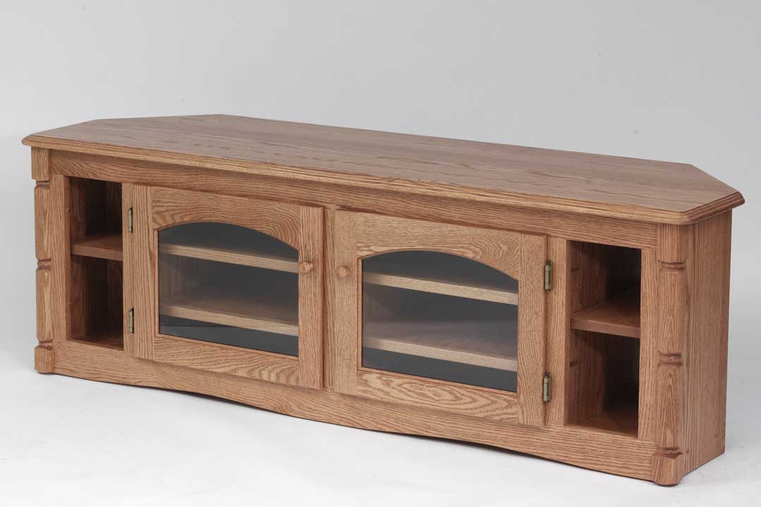 queen anne side chairs cherry zeus gaming chair solid oak country style corner tv stand - 60