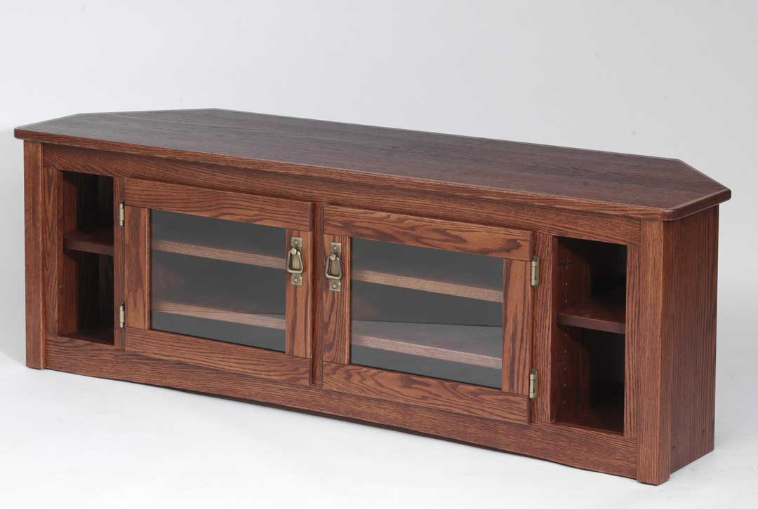 queen anne side chairs cherry verte ergonomic chair solid oak mission style corner tv stand - 60