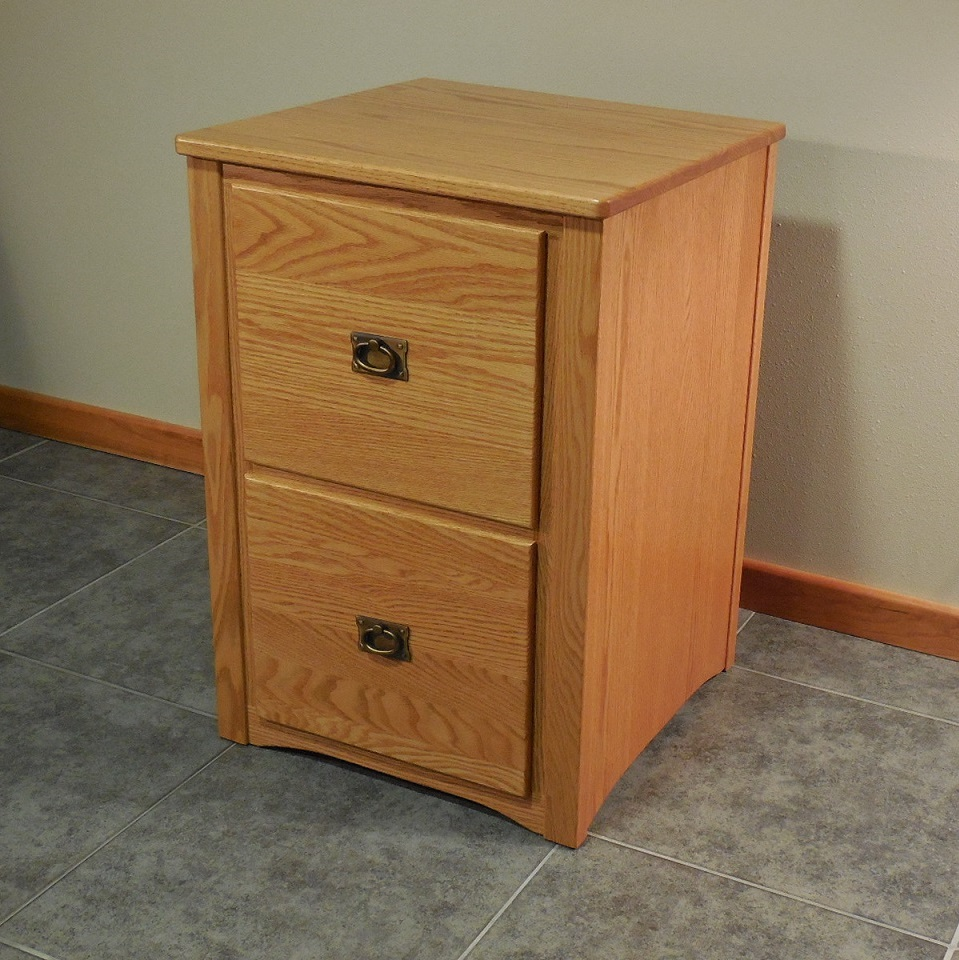 Mission Style Solid Oak 2 Drawer Filing Cabinet  The Oak