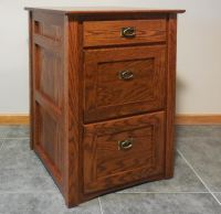 Authentic Mission Style Solid Oak 3 Drawer Filing Cabinet