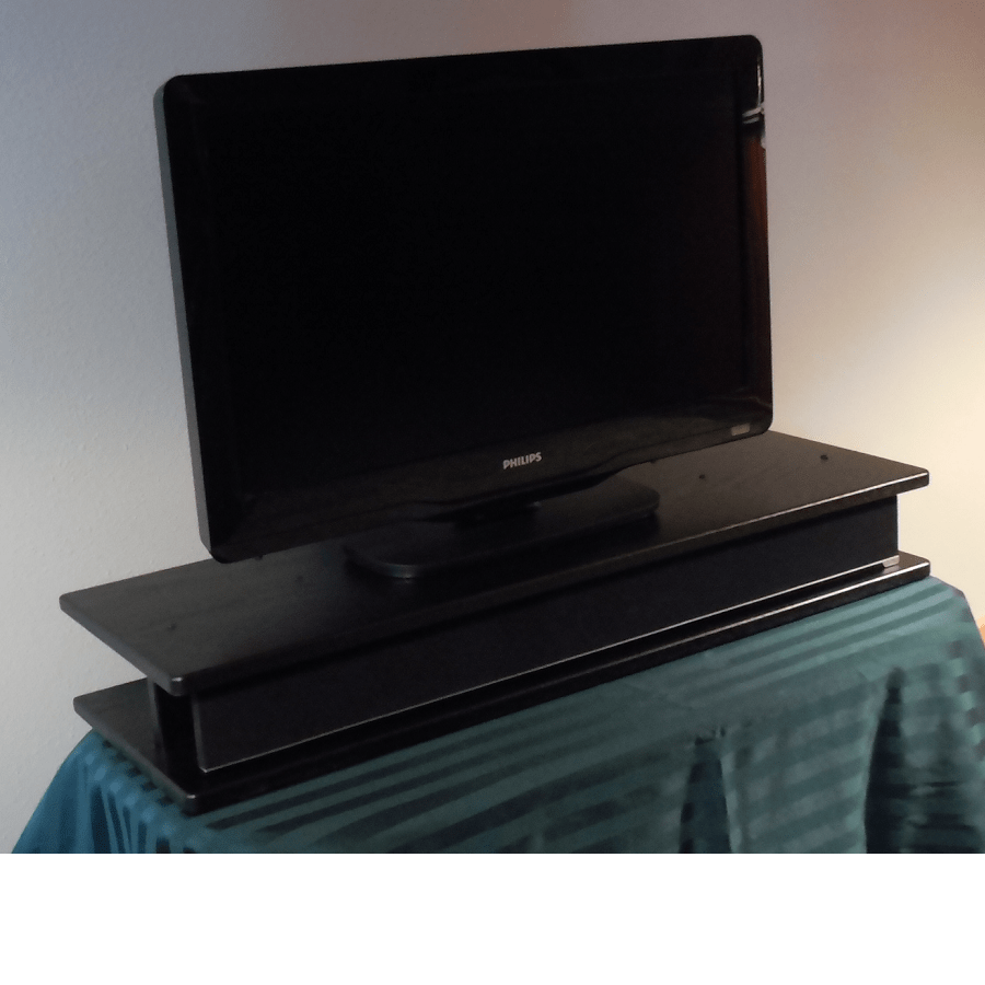 black and red corner sofa grey fabric flat screen oak tv riser for sound bar / claw - the ...