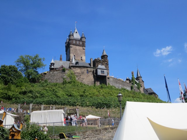 The Castle of Cochem overlooking the town.