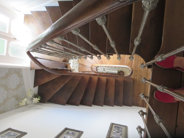 Looking down the original 1890's stairwell.