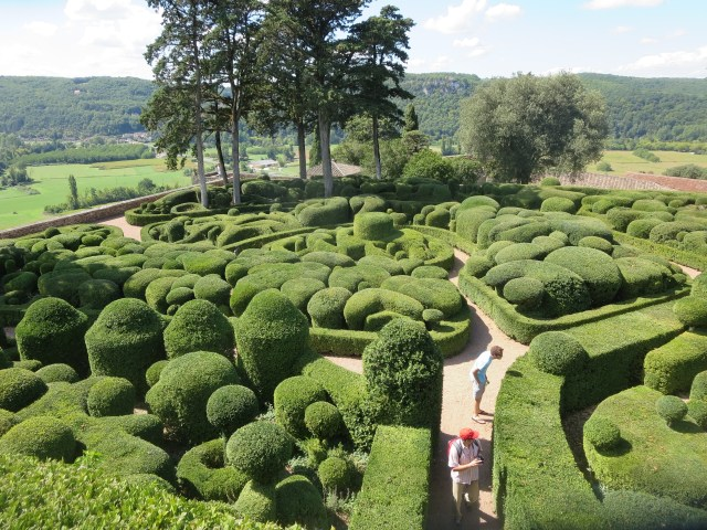 Gardens by the chateau. Overall, the gardens contain over 150,000 hand-trimmed boxwoods.