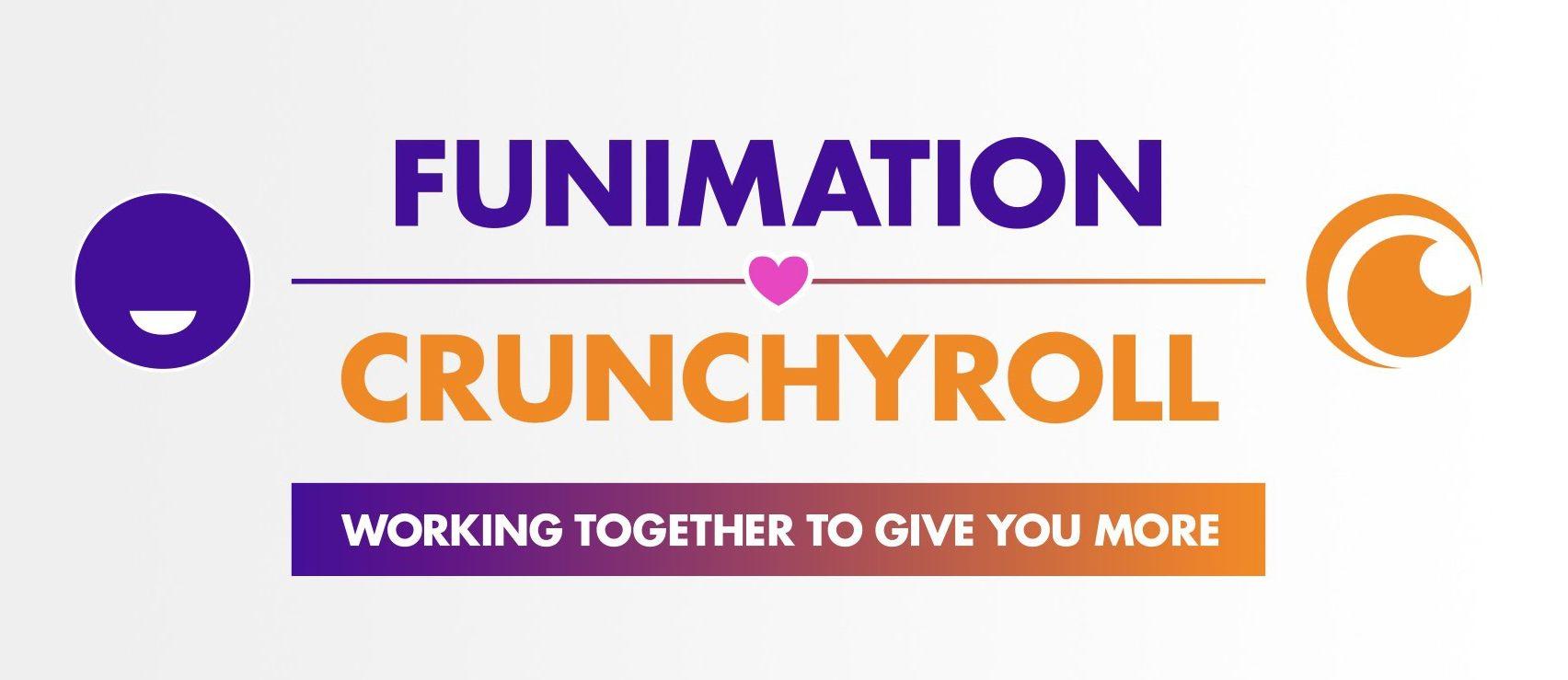Funimation x Crunchyroll logo.
