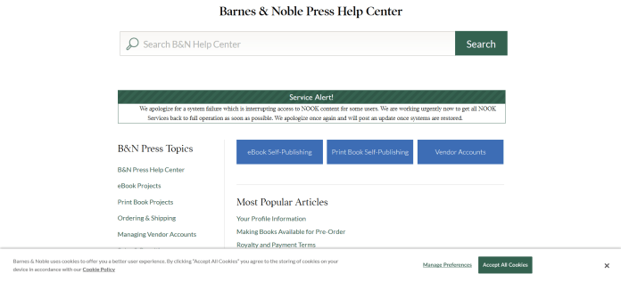 Barnes & Noble Nook alert