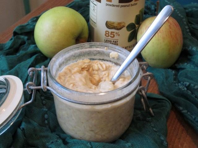Applesauce PB2 Overnight Oatmeal (2)