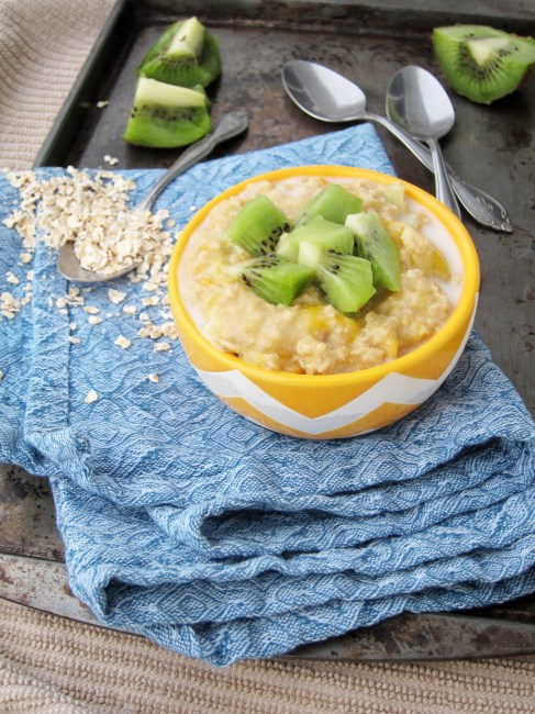 Mango, Pineapple, and Kiwi Oatmeal by The Oatmeal Artist