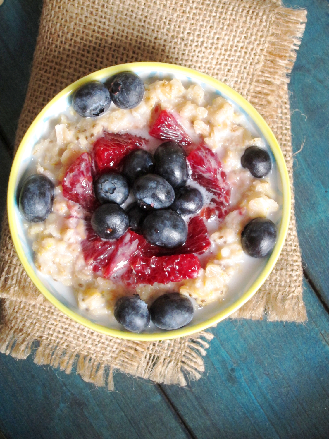 how to cook blueberries in oatmeal