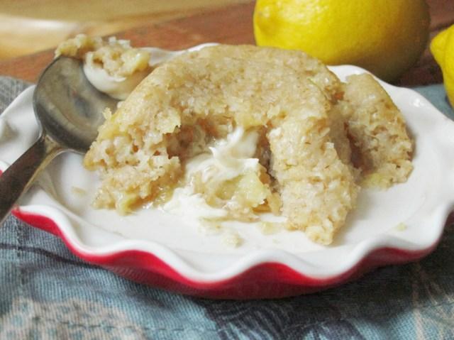 Lemon White Chocolate Lava Baked Oatmeal - The Oatmeal Artist
