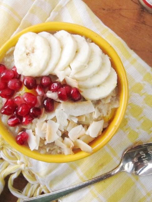 Banana Mango Cardamom Oatmeal #oatmealartist #vegan