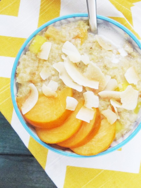 Mango Persimmon Oatmeal #oatmealartist #vegan