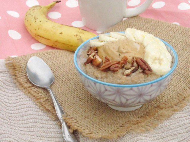 Spiced Banana Oatmeal with Java PB2 by The Oatmeal Artist