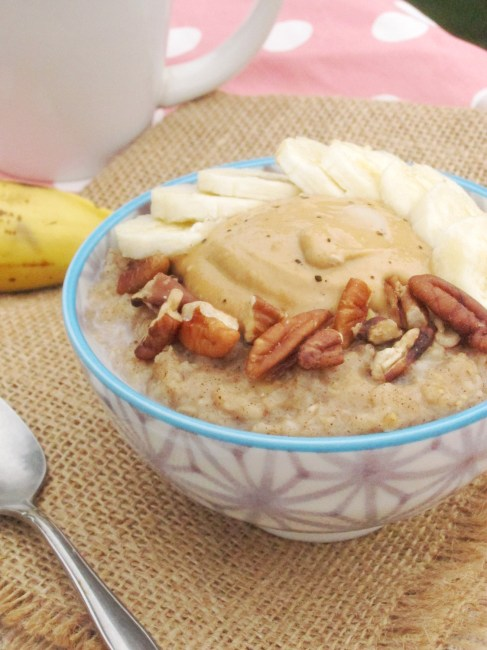 Spiced Banana Oatmeal with Java PB2