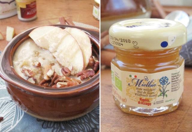 Apple Oatmeal with Tahini and Honey - Honey