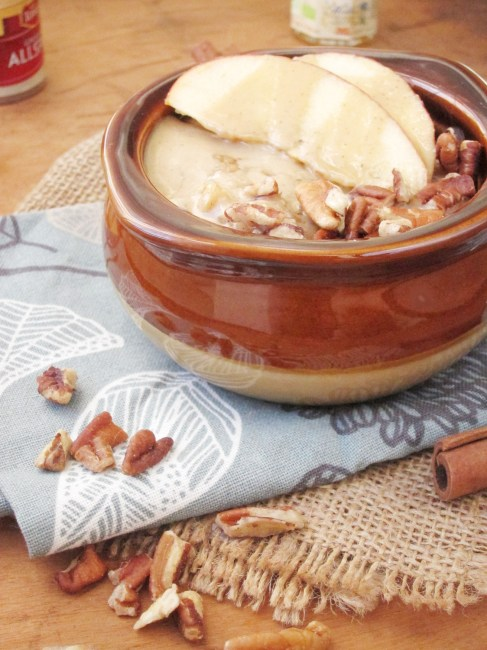 Apple Oatmeal with Tahini and Honey by The Oatmeal Artist