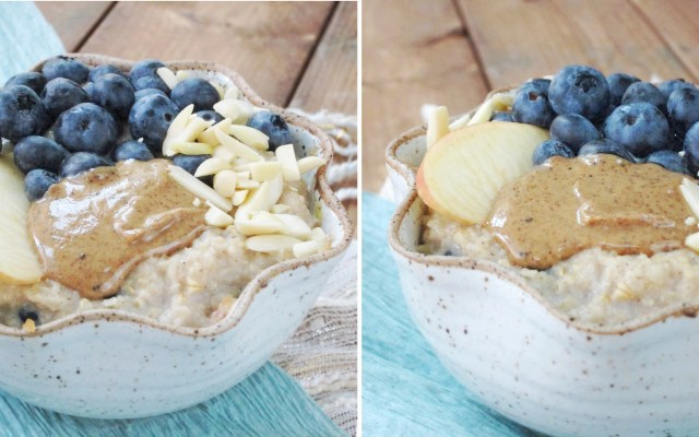 Blueberry Apple Oatmeal #vegan #oatmealartist