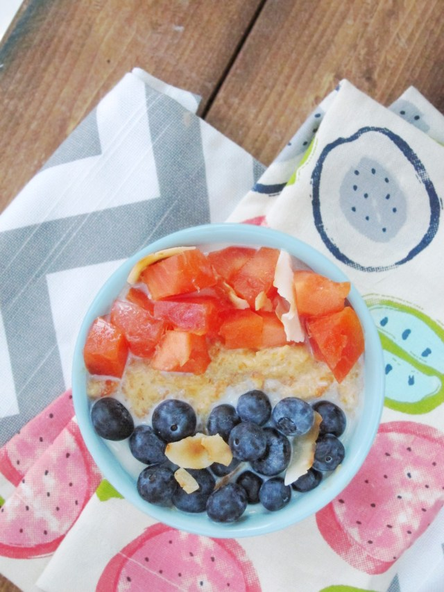 Papaya Blueberry Oatmeal by The Oatmeal Artist