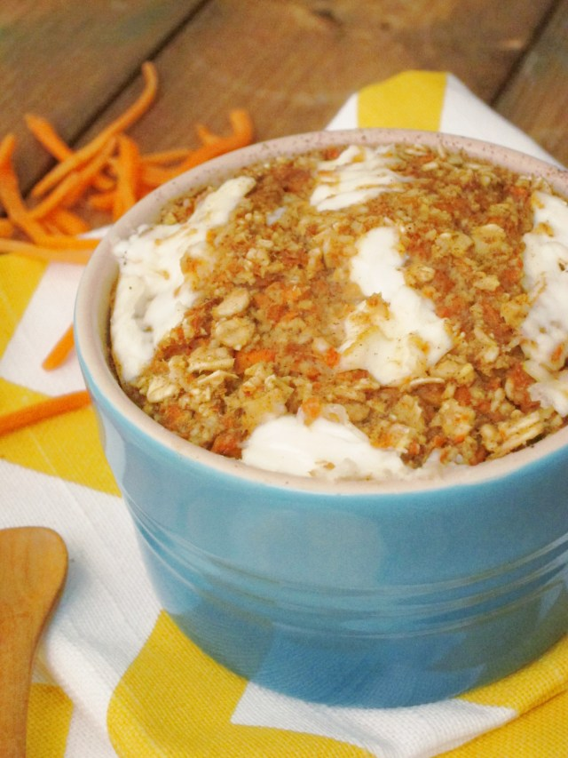 Carrot Cake Baked Oatmeal with Cream Cheese by the Oatmeal Artist #vegan