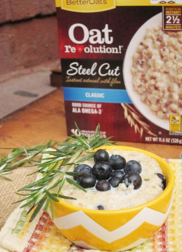 Lemon Berry Rosemary Oatmeal #oatmealartist #betteroats